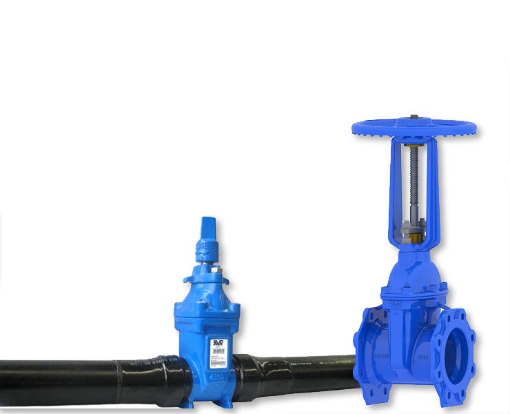 Gate valves for fire