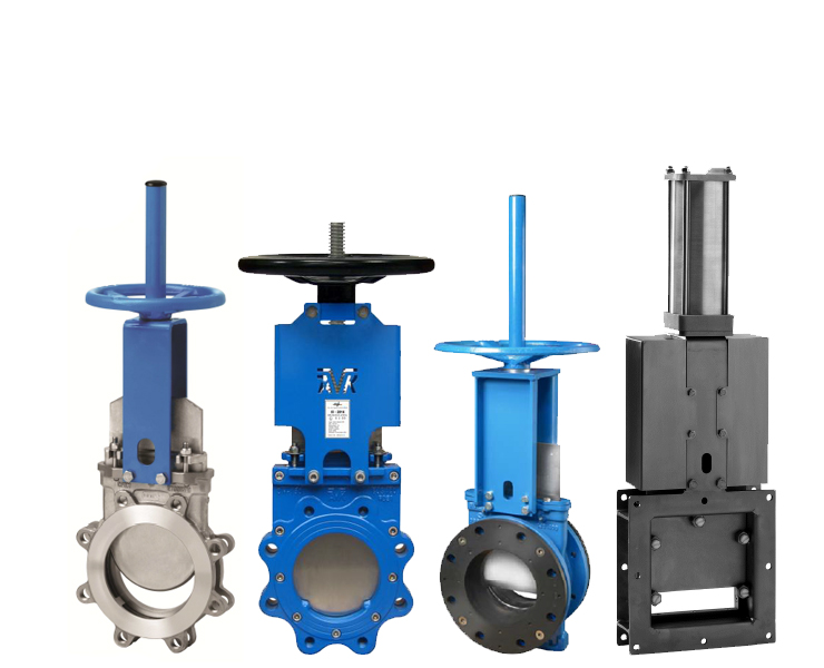 Knife gate valves AVK flow control