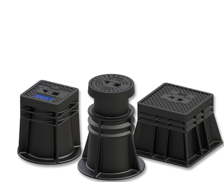 Wastewater surface boxes