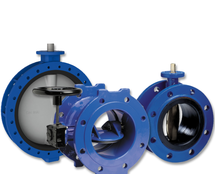 Water butterfly valves